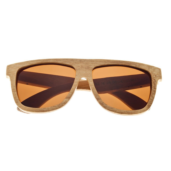 Earth Wood Imperial Sunglasses w/ Polarized Lenses - Khaki/Brown - Earth Wood Goods - Wood Watches, Wood Sunglasses, Natural Cork Bags
