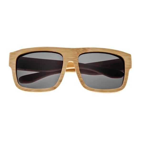Earth Wood Hermosa Sunglasses w/ Polarized Lenses - Khaki/Black - Earth Wood Goods - Wood Watches, Wood Sunglasses, Natural Cork Bags