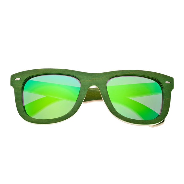 Earth Wood Malibu Sunglasses w/ Polarized Lenses - Green - Earth Wood Goods - Wood Watches, Wood Sunglasses, Natural Cork Bags