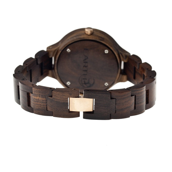 Earth Wood Nodal Bracelet Watch w/Date - Dark Brown - Earth Wood Goods - Wood Watches, Wood Sunglasses, Natural Cork Bags