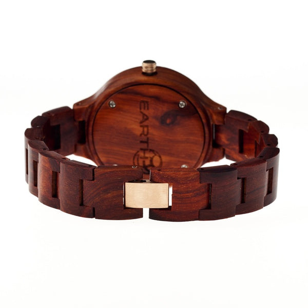 Earth Wood Nodal Bracelet Watch w/Date - Red - Earth Wood Goods - Wood Watches, Wood Sunglasses, Natural Cork Bags
