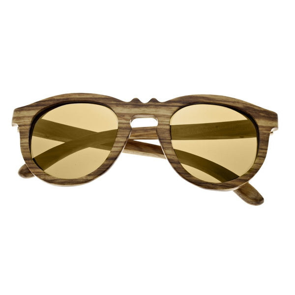 Earth Wood Venice Sunglasses w/ Polarized Lenses - Brown Zebra/Gold - Earth Wood Goods - Wood Watches, Wood Sunglasses, Natural Cork Bags