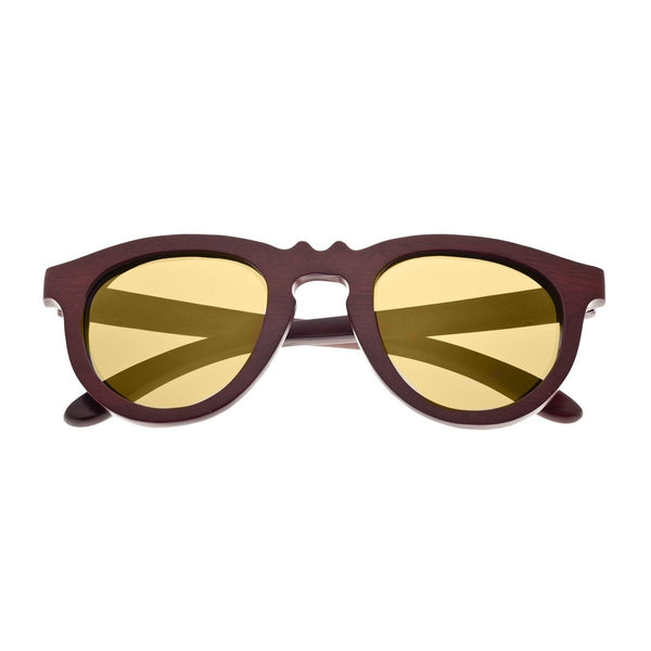 Earth Wood Venice Sunglasses w/ Polarized Lenses - Red Rosewood/Gold - Earth Wood Goods - Wood Watches, Wood Sunglasses, Natural Cork Bags