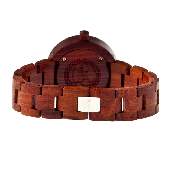Earth Wood Root Bracelet Watch - Red - Earth Wood Goods - Wood Watches, Wood Sunglasses, Natural Cork Bags