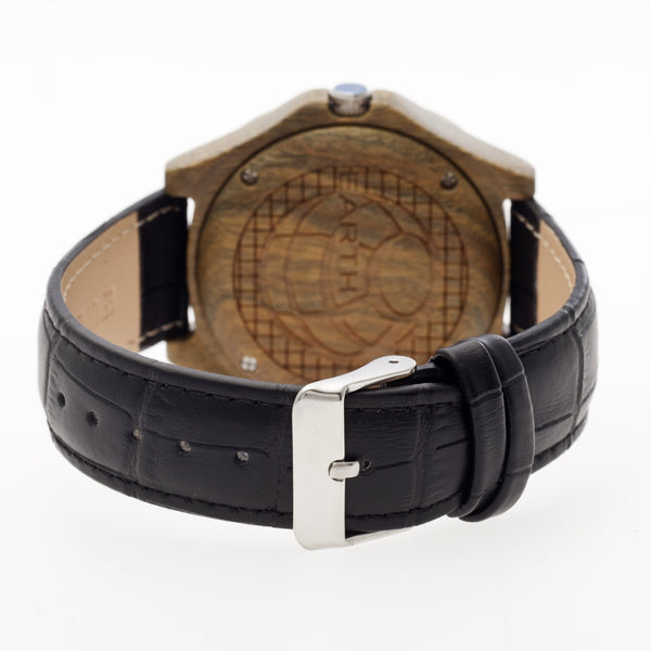 Earth Wood Sherwood Leather-Band Watch - Olive - Earth Wood Goods - Wood Watches, Wood Sunglasses, Natural Cork Bags