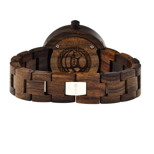 Earth Wood Root Bracelet Watch - Dark Brown - Earth Wood Goods - Wood Watches, Wood Sunglasses, Natural Cork Bags