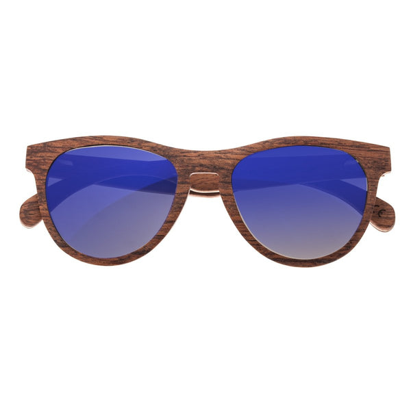Earth Wood Del Carmen Sunglasses w/ Polarized Lenses - Red Rosewood/Purple-Blue - Earth Wood Goods - Wood Watches, Wood Sunglasses, Natural Cork Bags