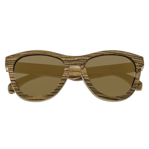 Earth Wood Del Carmen Sunglasses w/ Polarized Lenses - Zebrawood/Brown - Earth Wood Goods - Wood Watches, Wood Sunglasses, Natural Cork Bags