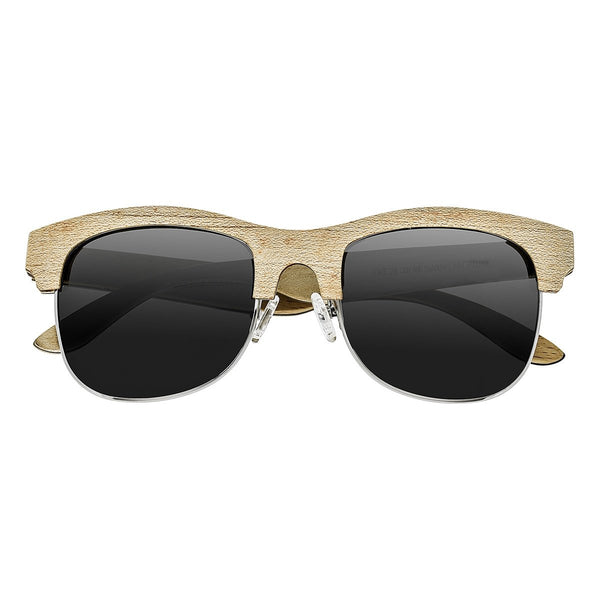 Earth Wood Dade Sunglasses w/ Polarized Lenses - Bamboo & Ebony/Brown - Earth Wood Goods - Wood Watches, Wood Sunglasses, Natural Cork Bags