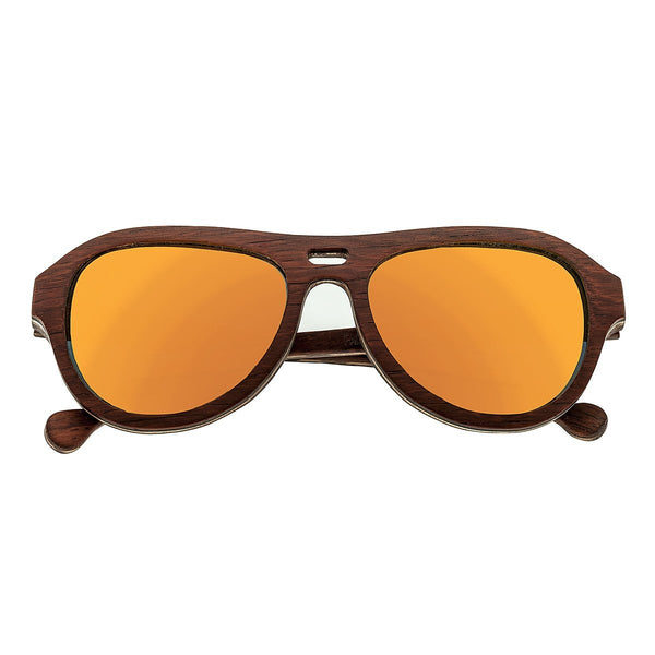 Earth Wood Clearwater Sunglasses w/ Polarized Lenses - Zebra Rosewood/Yellow - Earth Wood Goods - Wood Watches, Wood Sunglasses, Natural Cork Bags