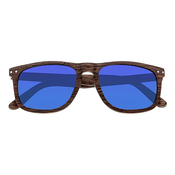 Earth Wood Pacific Sunglasses w/Polarized Lenses - Brown/Blue - Earth Wood Goods - Wood Watches, Wood Sunglasses, Natural Cork Bags