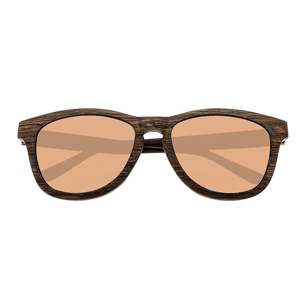 Earth Wood Cove Sunglasses w/Polarized Lenses - Zebra Rosewood/Rose Gold - Earth Wood Goods - Wood Watches, Wood Sunglasses, Natural Cork Bags