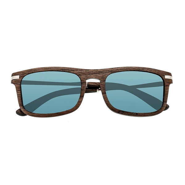 Earth Wood Queensland Sunglasses w/Polarized Lenses - Brown/Blue - Earth Wood Goods - Wood Watches, Wood Sunglasses, Natural Cork Bags