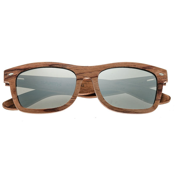 Earth Wood Maya Sunglasses w/ Polarized Lenses - Red Rosewood/Silver - Earth Wood Goods - Wood Watches, Wood Sunglasses, Natural Cork Bags