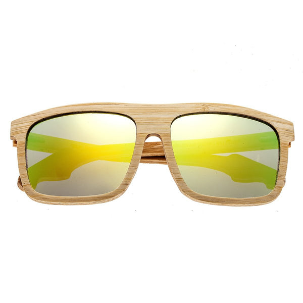 Earth Wood Aroa Sunglasses w/Polarized Lenses - Bamboo/Yellow - Earth Wood Goods - Wood Watches, Wood Sunglasses, Natural Cork Bags