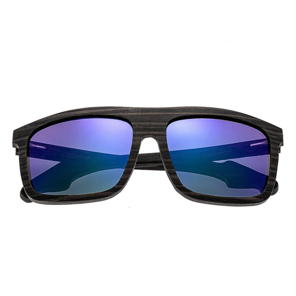 Earth Wood Aroa Sunglasses w/Polarized Lenses  - Ebony/Purple-Green - Earth Wood Goods - Wood Watches, Wood Sunglasses, Natural Cork Bags