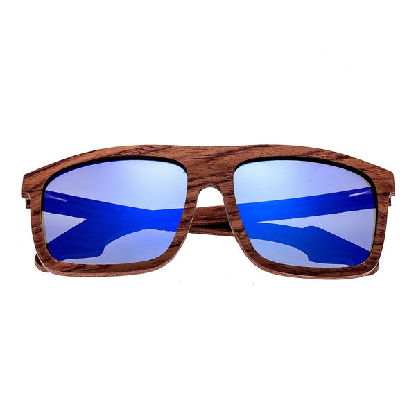 Earth Wood Aroa Sunglasses w/Polarized Lenses - Red Rosewood/Purple-Blue - Earth Wood Goods - Wood Watches, Wood Sunglasses, Natural Cork Bags
