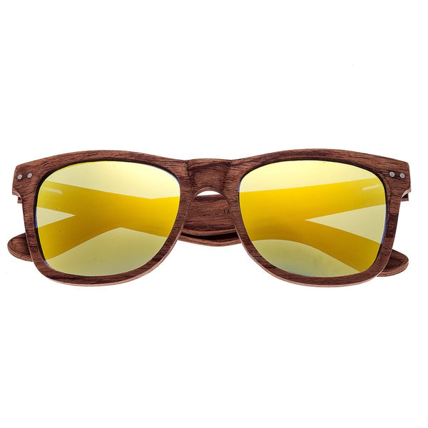 Earth Wood Cape Cod Sunglasses w/Polarized Lenses - Red Rosewood/Yellow - Earth Wood Goods - Wood Watches, Wood Sunglasses, Natural Cork Bags