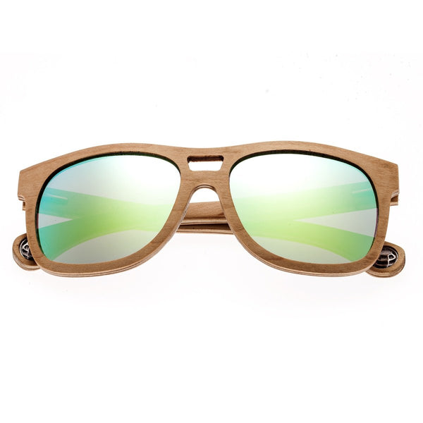 Earth Wood Las Islas Sunglasses w/ Polarized Lenses - Maple/Celeste-Yellow - Earth Wood Goods - Wood Watches, Wood Sunglasses, Natural Cork Bags