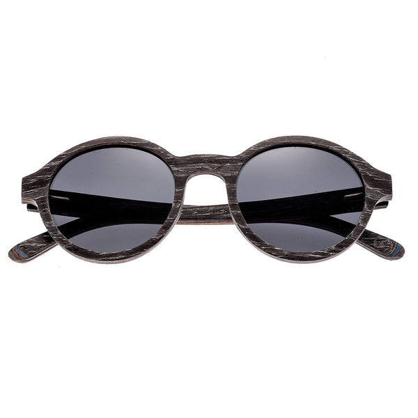 Earth Wood Maho Sunglasses w/ Polarized Lenses - Black Stripe/Black - Earth Wood Goods - Wood Watches, Wood Sunglasses, Natural Cork Bags
