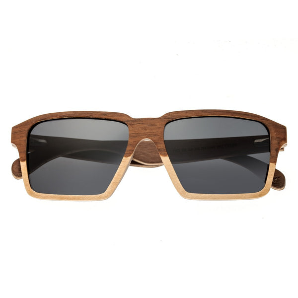 Earth Wood Piha Sunglasses w/Polarized Lenses - Walnut-Bamboo/Black - Earth Wood Goods - Wood Watches, Wood Sunglasses, Natural Cork Bags