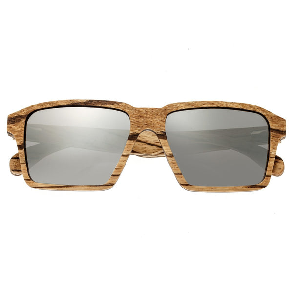 Earth Wood Piha Sunglasses w/Polarized Lenses - Zebrawood/Black - Earth Wood Goods - Wood Watches, Wood Sunglasses, Natural Cork Bags