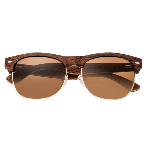 Earth Wood Moonstone Sunglasses w/ Polarized Lenses - Red Rosewood/Brown - Earth Wood Goods - Wood Watches, Wood Sunglasses, Natural Cork Bags