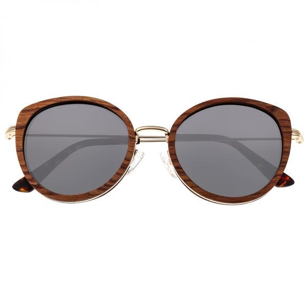 Earth Wood Oreti Sunglasses w/ Polarized Lenses - Annato/Silver - Earth Wood Goods - Wood Watches, Wood Sunglasses, Natural Cork Bags