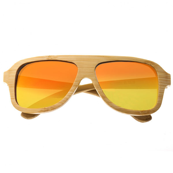 Earth Wood Siesta Sunglasses w/ Polarized Lenses - Khaki/Red - Earth Wood Goods - Wood Watches, Wood Sunglasses, Natural Cork Bags