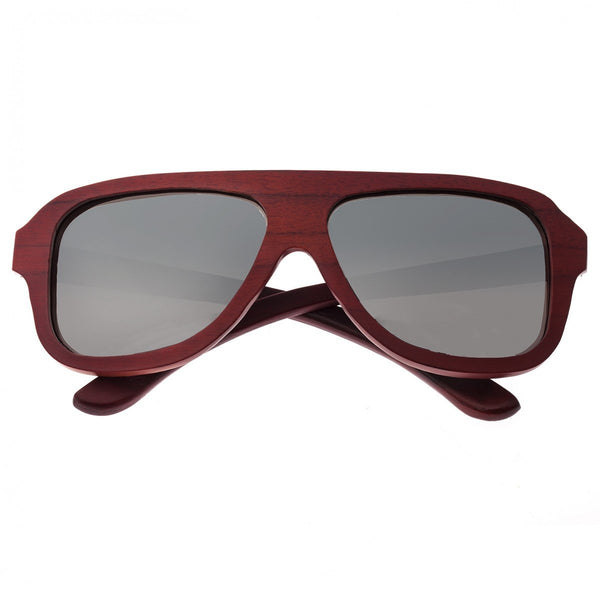 Earth Wood Siesta Sunglasses w/ Polarized Lenses - Red Rosewood/Silver - Earth Wood Goods - Wood Watches, Wood Sunglasses, Natural Cork Bags
