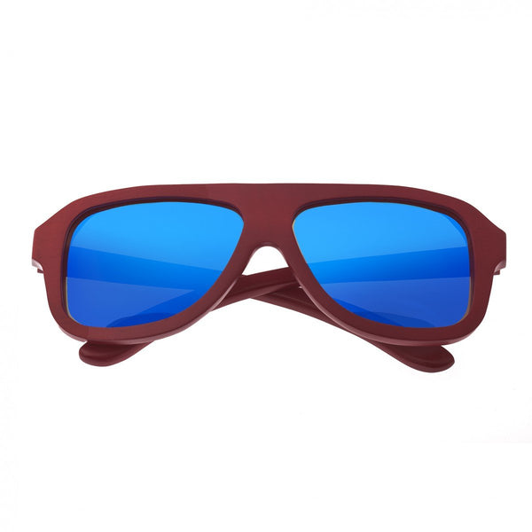 Earth Wood Siesta Sunglasses w/ Polarized Lenses - Rosewood/Blue - Earth Wood Goods - Wood Watches, Wood Sunglasses, Natural Cork Bags