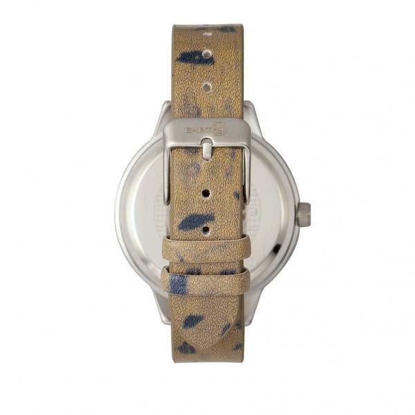 Earth Wood Autumn Watch - Silver/Dark Brown - Earth Wood Goods - Wood Watches, Wood Sunglasses, Natural Cork Bags