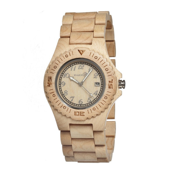 Earth Wood Phloem Bracelet Watch w/Date - Khaki/Tan - Earth Wood Goods - Wood Watches, Wood Sunglasses, Natural Cork Bags