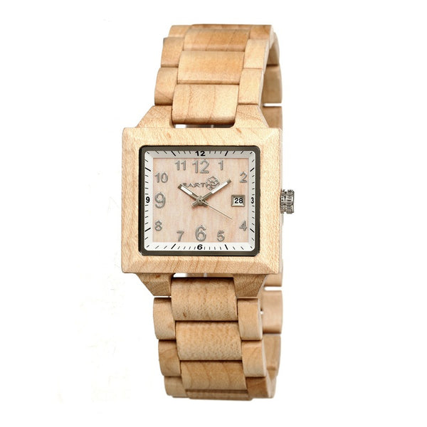 Earth Wood Culm Bracelet Watch w/Date - Khaki/Tan - Earth Wood Goods - Wood Watches, Wood Sunglasses, Natural Cork Bags