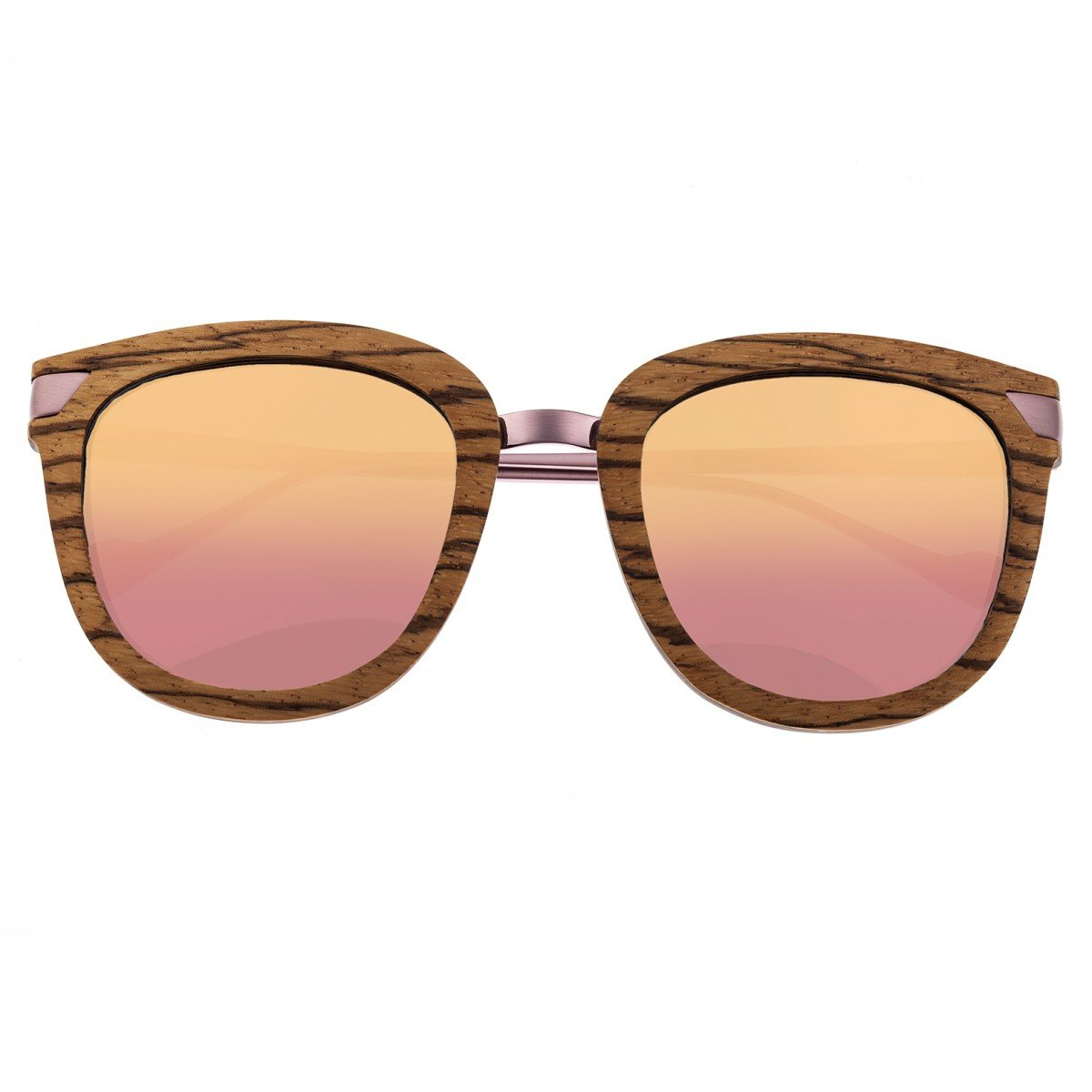 b7325fbe33 Earth Wood Nissi Sunglasses w Polarized Lenses - Zebrawood Rose Gold - Earth  Wood Goods - Wood Watches