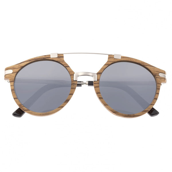 Earth Wood Petani Sunglasses w/Polarized Lenses - Zebra/Silver - Earth Wood Goods - Wood Watches, Wood Sunglasses, Natural Cork Bags