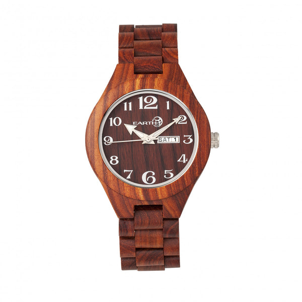 Earth Wood Sapwood Bracelet Watch w/Date - Red - Earth Wood Goods - Wood Watches, Wood Sunglasses, Natural Cork Bags