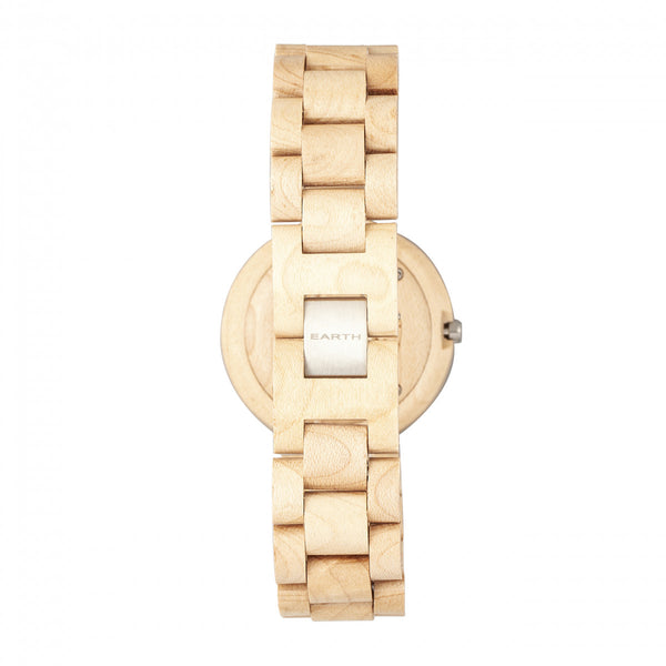 Earth Wood Stomates Bracelet Watch w/Date - Khaki/Tan - Earth Wood Goods - Wood Watches, Wood Sunglasses, Natural Cork Bags