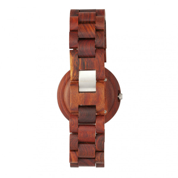Earth Wood Stomates Bracelet Watch w/Date - Red - Earth Wood Goods - Wood Watches, Wood Sunglasses, Natural Cork Bags