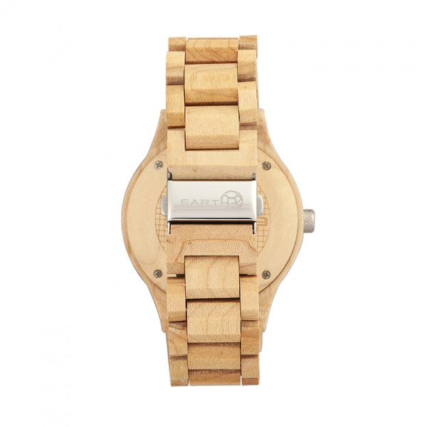 Earth Wood Cherokee Bracelet Watch w/Magnified Date - Khaki/Tan - Earth Wood Goods - Wood Watches, Wood Sunglasses, Natural Cork Bags