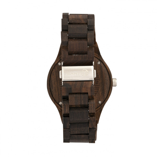 Earth Wood Cherokee Bracelet Watch w/Magnified Date - Dark Brown - Earth Wood Goods - Wood Watches, Wood Sunglasses, Natural Cork Bags