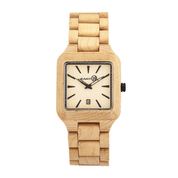 Earth Wood Arapaho Bracelet Watch w/Date - Khaki/Tan - Earth Wood Goods - Wood Watches, Wood Sunglasses, Natural Cork Bags