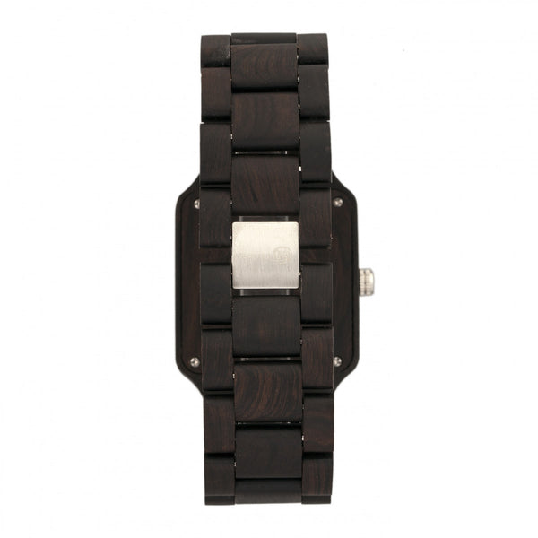 Earth Wood Arapaho Bracelet Watch w/Date - Dark Brown - Earth Wood Goods - Wood Watches, Wood Sunglasses, Natural Cork Bags