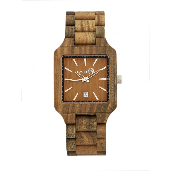 Earth Wood Arapaho Bracelet Watch w/Date - Olive - Earth Wood Goods - Wood Watches, Wood Sunglasses, Natural Cork Bags