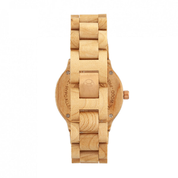 Earth Wood Biscayne Bracelet Watch w/Date - Khaki/Tan - Earth Wood Goods - Wood Watches, Wood Sunglasses, Natural Cork Bags