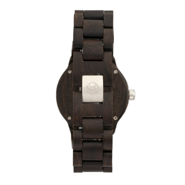 Earth Wood Biscayne Bracelet Watch w/Date - Dark Brown - Earth Wood Goods - Wood Watches, Wood Sunglasses, Natural Cork Bags