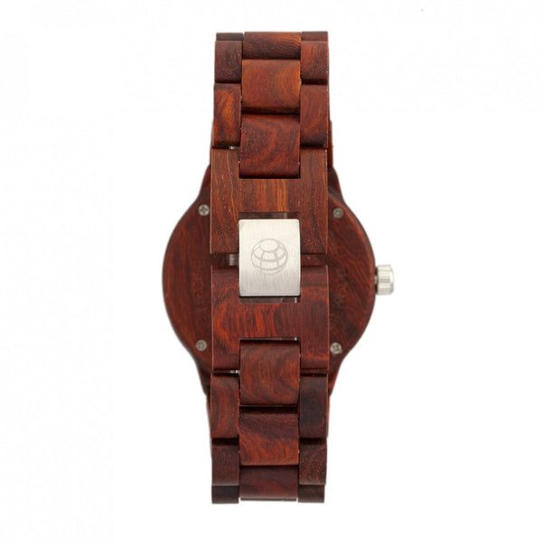 Earth Wood Biscayne Bracelet Watch w/Date - Red - Earth Wood Goods - Wood Watches, Wood Sunglasses, Natural Cork Bags