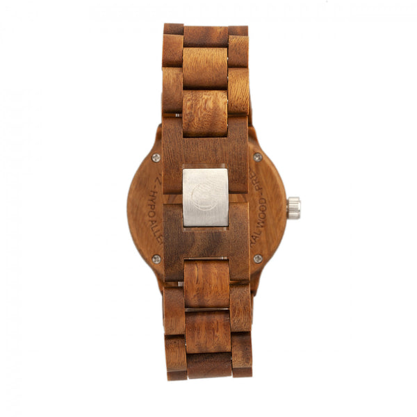 Earth Wood Biscayne Bracelet Watch w/Date - Olive - Earth Wood Goods - Wood Watches, Wood Sunglasses, Natural Cork Bags