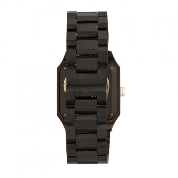 Earth Wood Black Rock Automatic Bracelet Watch - Dark Brown - Earth Wood Goods - Wood Watches, Wood Sunglasses, Natural Cork Bags