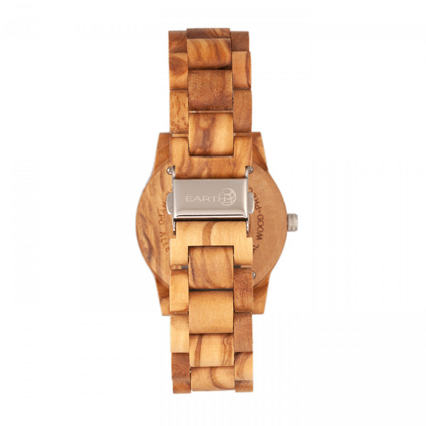 Earth Wood Crown Bracelet Watch - Khaki/Tan - Earth Wood Goods - Wood Watches, Wood Sunglasses, Natural Cork Bags